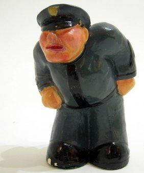 ART DECO CARTOONISH COP POLICE FIGURE RITTER 1940s