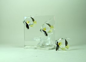 Signed Swarovski Crystal Plaque 'community'