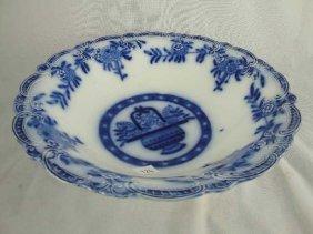 FLOW BLUE PLATE - LG BOWL - BRUGGE TRENT