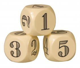 Set Of Three Large Catalin Ball Dice