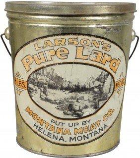 Larson's Pure Lard Tin Pail