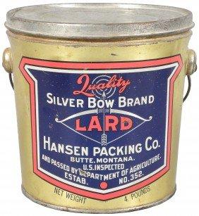 Silver Bow Brand Lard Tin Pail