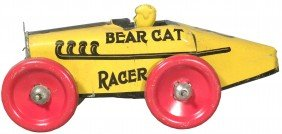 Bear Cat Tin Race Car Toy