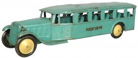 Green Inter City Pressed Steel Toy Bus