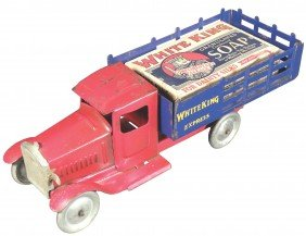 Structo Pressed Steel White King Soap Stake Truck