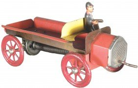 Very Early Tin Litho Flair Side Toy Truck
