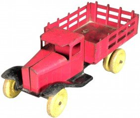 Pressed Steel Stake Bed Truck Toy