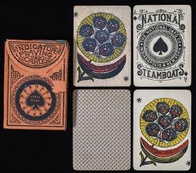"""National Card Co. """"Steamboats"""" Playing Cards."""