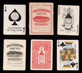 Sam Thompson Pure Rye Whiskey Playing Cards. West