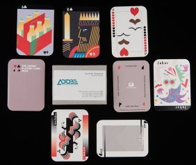 Adobe Playing Card Deck. Adobe Systems Inc., 1988. 52 +