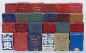 Group Of 24 Souvenir Playing Card Decks. Various Dates