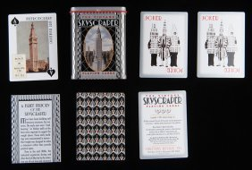 Inkstone Design Vintage Skyscraper Playing Cards.