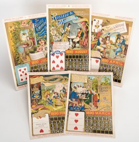 Five Russell & Morgan Factories 1890 Calendar Pages.