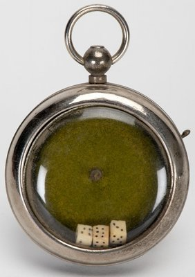 Dice Pocket Watch. Manufacturer Unknown, Ca. 1900.