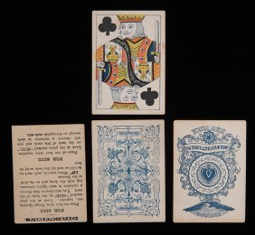 "Marked Deck ""excelsior"" Playing Cards. 52 + Instruction"