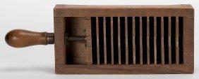 Wood Faro Playing Card Press. American, Maker Unknown,