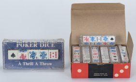 "Twelve Sets Of 5/8"" Poker Dice With Instructions In"