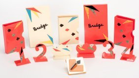 Two Sets Of Bridge Accessories. Including A