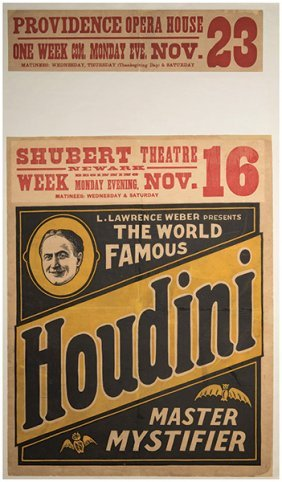 Houdini, Harry (ehrich Weisz). The World Famous