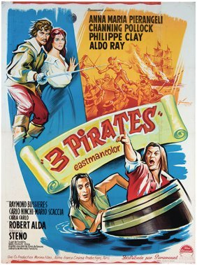 Pollock, Channing. The Three Pirates. Cineriz, 1962.