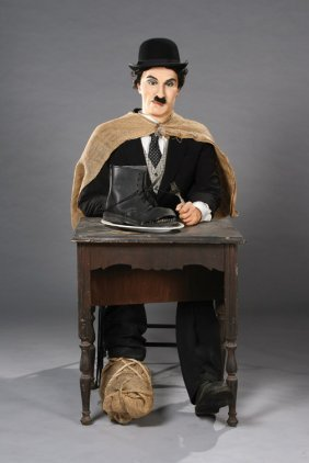 Charlie Chaplin Wax Figure From The Gold Rush