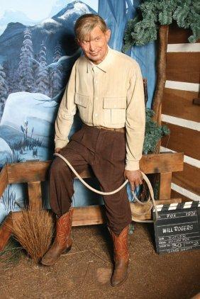 Will Rogers Wax Figure