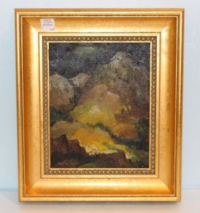 "Marie Hull Oil Painting ""colorado Mountains"""