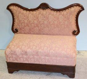 Mahogany Empire Petticoat Settee