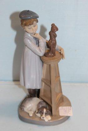 Lladro Figurine Of Artist