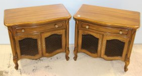 Pair Of French Queen Anne Nightstands