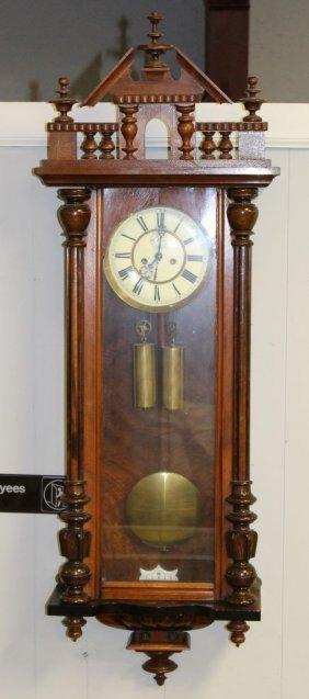 Walnut Wall Hanging Clock