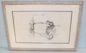 John Gibson Print Of Stipple Art