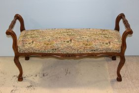 Small Upholstered French Bench