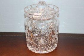Waterford Crystal Jar With Lid