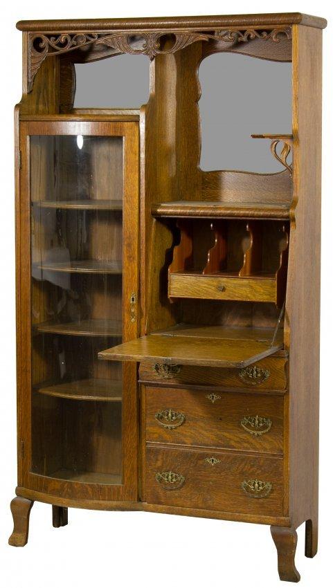 Mahogany Side By Side Secretary Desk Cabinet Lot 104