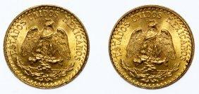 Mexico: 1935 And 1945 Dos Pesos Gold