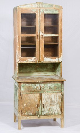 Shabby Chic Painted Pine Cabinet