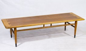 Mid-century Modern 'surfboard' Coffee Table By Lane