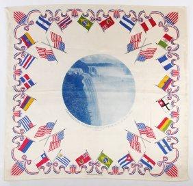 1876 Us Centennial Commemorative Textile Assortment