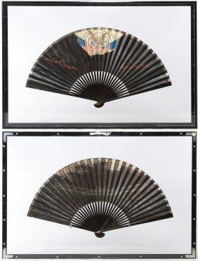 American Centennial Painted Paper Fan