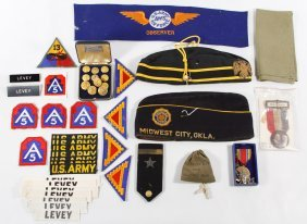 Military And Police Patch And Button Assortment