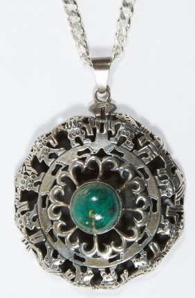 Taxco Los Ballesteros Sterling Silver Pendant On