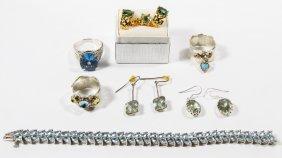 Sterling Silver And Semi-precious Gemstone Jewelry