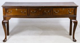 Chippendale Style Walnut Hall Table
