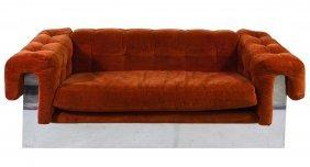 Mid-century Modern Upholstered Sofa By Milo Baughman
