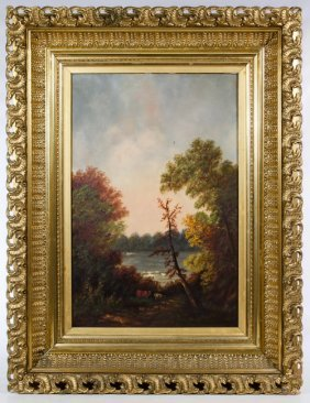 Hudson River School (american, 19th Century) 'on The