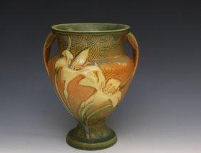 Roseville Brown Zephyr Lilly Vase