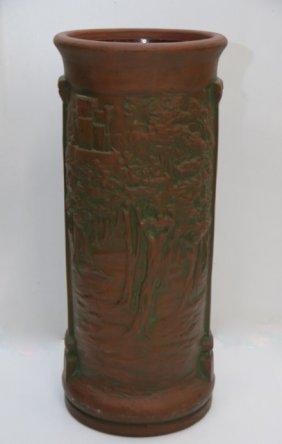 Figural Pottery Umbrella Stand