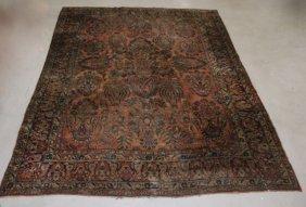 Antique Handmade Sarouk Rug