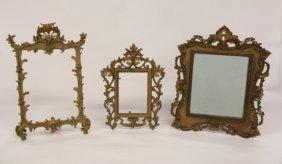 3 Ornate Cast Iron Frames